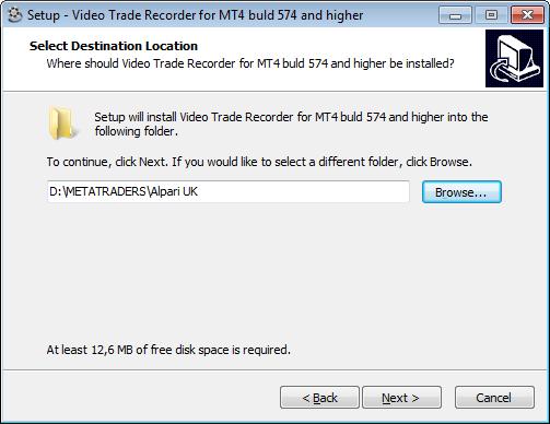 VTR-installation-folder