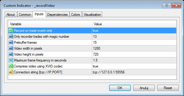onEvent video recording in metatrader